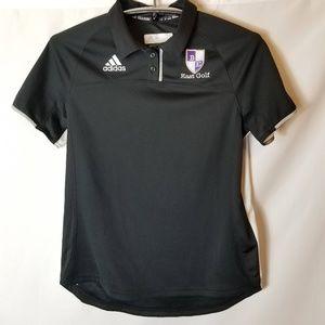 Adidas Black White Golf Polo East Golf Size Medium